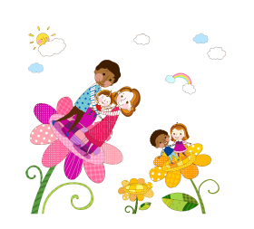 happy family day png flower vector