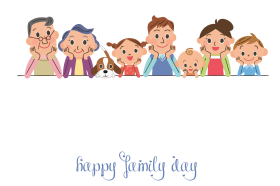 happy family day png hd