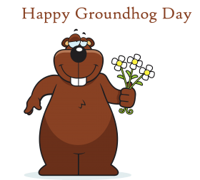 happy groundhog day cartoon png