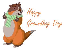 happy groundhog day png cartoon