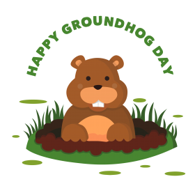 happy groundhog day png hd