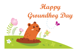 happy groundhog day png logo