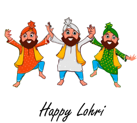 happy Lohri png celebrating