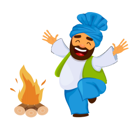 happy lohri png clipart vector