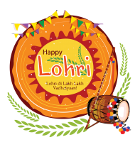 happy Lohri png indian musical