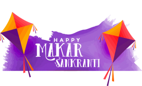 happy makar sankranti png text