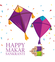 happy makar sankranti png triangle