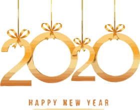 happy new year 2020 png gold