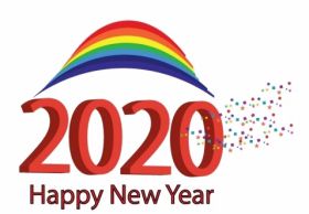Happy New Year 2020 PNG Image