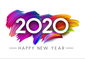 Happy New Year 2020 PNG Transparent
