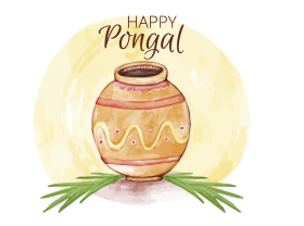 happy pongal png hd