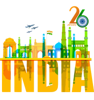 happy republic day png 26th india clipart