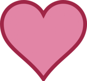 heart png pink color