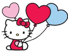 hello kitty png hd hearts