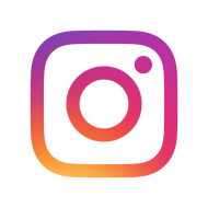 instagram logo on transparent background icon