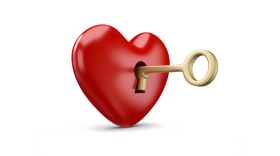 Key heart png