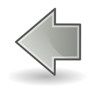 Left Arrow Png Grey color