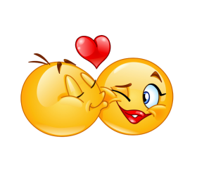 love emoji kiss