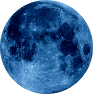 moon png blue hd
