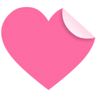 pink heart png clipart