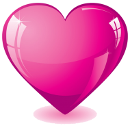 Pink heart png HD