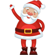 png santa cartoon clipart