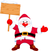 png santa claus cartoon clipart