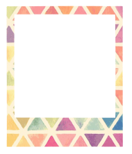 polaroid frame png colores