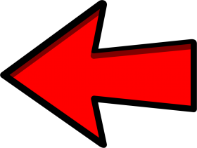 red black Left arrow png HD