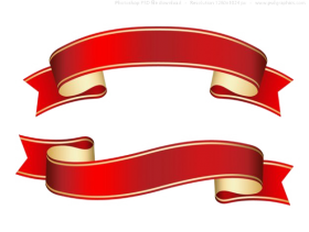 ribbon banner png hd red color