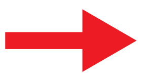 Right arrow PNG red color