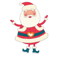 santa cartoon clipart png