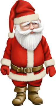 santa cartoon png 3d