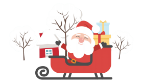 santa cartoon png ice