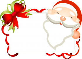 santa christmas flower png for