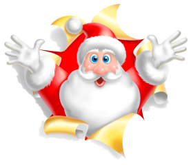 santa claus cartoon clipart png