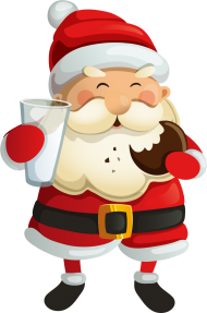 santa claus png  food for christmas clipart