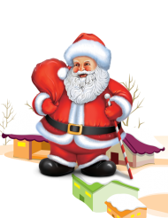 santa clipart cartoon png