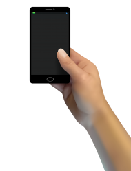 smartphone png hand