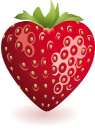 strawberry heart png
