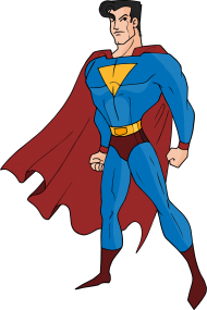 superman png cartoon clipart hd