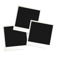 three polaroid frame png
