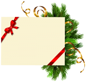 tree christmas clipart frame gift png
