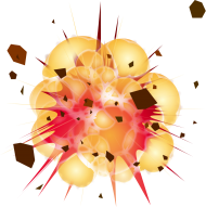 Vector explosion png hd