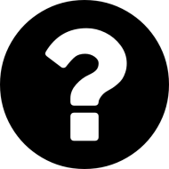 white and black question mark png