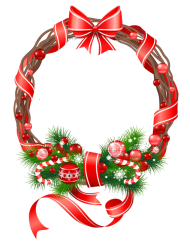 wreath for christmas clipart