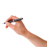 write hand png