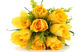 yellow Bouquet flowers PNG  transparent background