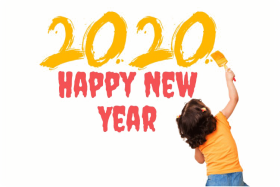 yellow Happy New Year 2020 PNG Clipart